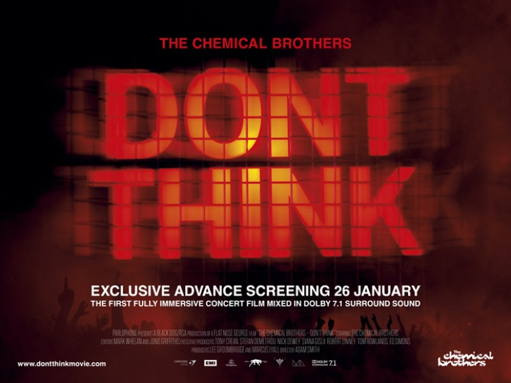"The Chemical Brothers enjoy a night at the movies with ""Don't Think"""