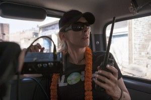 "Director/Producer Kathryn Bigelow on the set of Columbia Pictures' thriller ""ZERO DARK THIRTY."" ©Columbia Pictures. CR: Jonathan Olley."