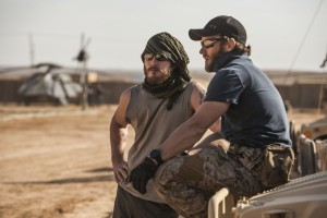 "Chris Pratt (left) and Joel Edgerton play the SEAL Team Six soldiers who raid Osama Bin Laden's compound in Columbia Pictures' mesmerizing new action thriller from director Kathryn Bigelow, ""ZERO DARK THIRTY."" ©Zero Dark Thirty, LLC. CR: Jonathan Olley."