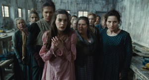 "Fantine (ANNE HATHAWAY) is thrown out of the factory in ""Les Misérables"" ©Universal Studios."