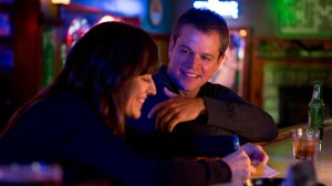 "(l to r) Rosemarie DeWitt stars as Alice and Matt Damon stars as Steve in Gus Van Sant's contemporary drama ""Promised Land."" ©Focus Features. CR: Scott Green."
