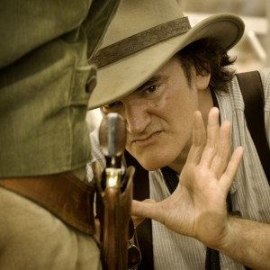Director QUENTIN TARANTINO on the set of DJANGO UNCHAINED. ©The Weinstein Company. CR: Andew Cooper.