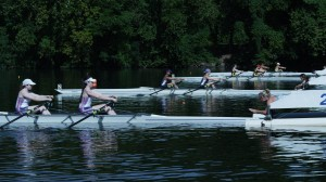 "The female rowing team compete in ""Backwards."" ©Phase 4 Films."