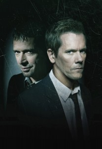 A fast-paced psychological thriller that follows  former FBI agent Ryan Hardy (Kevin Bacon, R), who is called out of retirement to track down Joe Carroll (James Purefoy, L), in the new drama THE FOLLOWING premiering Monday, Jan. 21 (9:00-10:00 PM ET/PT) on FOX. ©Fox Broadcasting Co. CR: Michael Lavine/FOX