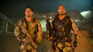 "(l-r) Channing Tatum and Dwayne Johnson stars in ""G.I. JOE: RETALIATION."" ©Paramount Pictures. CR: Jaimie Trueblood."