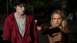 "TERESA PALMER (r) fights off zombies as NICHOLAS HOULT looks on in ""WARM BODIES."" ©Summit Entertainment. CR: Jonathan Wenk."