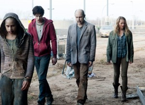 "(L-R) NICHOLAS HOULT, ROB CORDDRY and TERESA PALMER are walking dead zombies in ""WARM BODIES"" ©Summit Entertainment. CR: Jonathan Wenk."