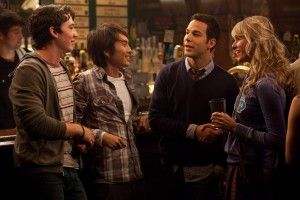 (Left to right.) Miles Teller, Justin Chon, Skylar Astin and Sarah Wright. ©Relativity Media. CR: John Johnson