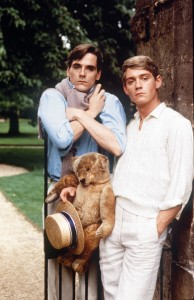 "Jeremy Irons as Charles Ryder and Anthony Andrews as Sebastian Flyte with Aloysius the Teddy-Bear in ""Brideshead Revisited: Episode 1: Et In Arcadia Ego: 1981."" ©Granada TV."