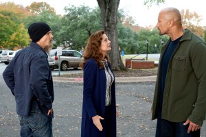 "(L-R) BARRY PEPPER, SUSAN SARANDON and DWAYNE JOHNSON star in ""SNITCH."" ©Summit Entertainment. CR: Steve Dieti."