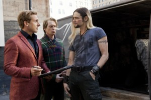 "(L-r) STEVE CARELL as Burt Wonderstone, STEVE BUSCEMI as Anton Marvelton and JIM CARREY as Steve Gray in New Line Cinema's comedy ""THE INCREDIBLE BURT WONDERSTONE."" ©Warner Bros. Entertainment. CR: Ben Glass."