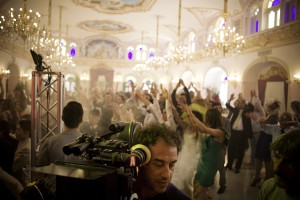 "Behind the scenes still of ""REALITY"" director Matteo Garrone. ©Oscilloscope Laboratories."