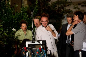 "Director Danny Boyle on the set of ""TRANCE."" ©Fox Searchlight. CR: Susie Allnutt."