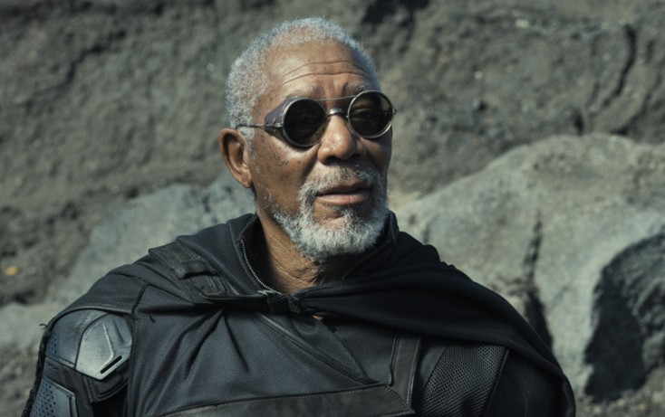 Morgan Freeman Enters 'Oblivion' with Tom Cruise – 3 Photos