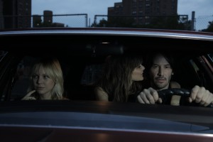 "(l-r) Adelaide Clemens, Borjana Novakovic and Keanu Reeves in ""Generation Um."" ©Voltage Pictures."