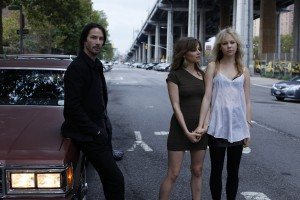 "(l-r) Keanu Reeves, Borjana Novakovic and Adelaide Clemens in ""Generation Um."" ©Voltage Pictures."