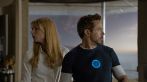 "L to R: Pepper Potts (Gwyneth Paltrow) & Tony Stark/Iron Man (Robert Downey Jr.) in ""Marvel's Iron Man 3."" © 2012 MVLFFLLC.  TM & © 2012 Marvel.  All Rights Reserved."