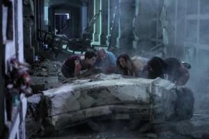 """(l-r)  Andrea Osvart, Nicolas Martinez, Natasha Yarovenko and Lorenza Izzo in """"AFTERSHOCK."""" ©Radius/TWC."""