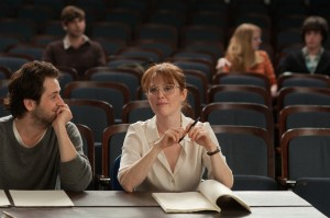 "(l-r) Michael Angarano and Julianne Moore in Craig Zisk's ""The English Teacher."" ©Nicole Rivelli."