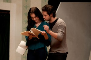 "(l-r) Lily Collins and Michael Angarano star in Craig Zisk's ""The English Teacher."" ©Nicole Rivelli."