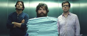 "(L-r) BRADLEY COOPER as Phil, ZACH GALIFIANAKIS as Alan and ED HELMS as Stu in Warner Bros. Pictures' and Legendary Pictures' comedy ""THE HANGOVER PART III."" ©Warner Bros. Entertainment."