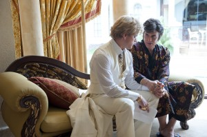 "(l-r) MATT DAMON and MICHAEL DOUGLAS star in ""BEHIND THE CANDELABRA."" ©HBO. CR: Claudette Barius."