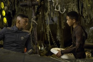 "Will Smith, left, and Jaden Smith star in Columbia Pictures' ""After Earth."" ©CTMG. CR: Frank Masi."
