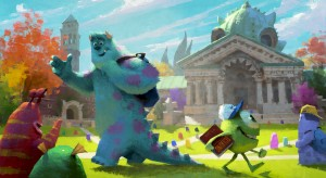 "(l-r) Sulley (John Goodman) and Mike (Billy Crystal) embark on an educational roadtrip in ""MONSTERS UNIVERSITY."" ©2012 Disney/Pixar. All Rights Reserved"