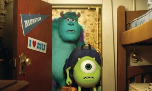 "SULLEY and MIKE discover their university dorm in ""MONSTERS UNIVERSITY.""  ©2013 Disney•Pixar. All Rights Reserved."