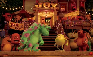 "(l-r) Sulley and Mike ready to rumble on campus in ""MONSTERS UNIVERSITY"" (L-R) SULLEY and MIKE. ©2013 Disney•Pixar. All Rights Reserved."