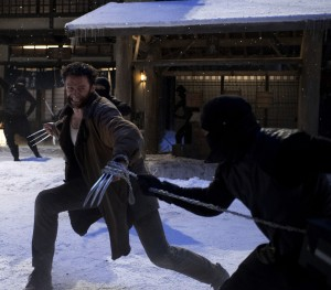 "Hugh Jackman fights off the enemy in ""The Wolverine."" ©20th Century Fox/Marvel Characters, Inc. CR: Ben Rothstein."