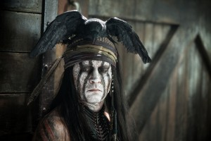 "Johnny Depp as Tonto in ""THE LONE RANGER."" ©Disney Enterprises/Jerry Bruckheimer Inc. CR: Peter Mountain."