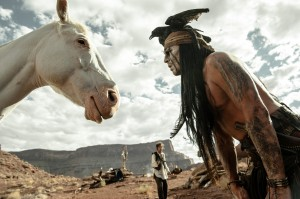 "Johnny Depp stars as Tonto in ""THE LONE RANGER.""  ©Disney Enterprises, Inc. and Jerry Bruckheimer Inc.  CR: Peter Mountain."
