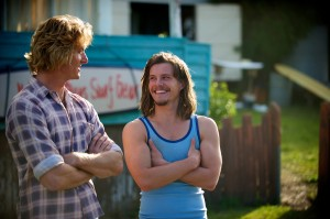 "(l-r) Andy Kelly (Myles  Pollard) and Jimmy Kelly (Xavier Samuel) are excited about their new surf business venture in ""Drift."" ©Lionsgate Entertainment."
