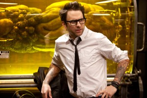 "Charlie Day stars as Dr. Newt Geizler in ""Pacific Rim."" ©Warner Bros. Entertainment/Legendary Pictures Funding. CR: Kerry Hayes."