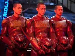 "Charles, Lance and Mark Luu as the Wei Tang Triplets in the sci-fi action adventure"" Pacific Rim."" ©Warner Bros. Entertainment/Legendary Pictures Funding. CR: Kerry Hayes."