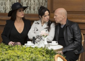 "(L to R) CATHERINE ZETA-JONES, MARY-LOUISE PARKER and BRUCE WILLIS star in ""RED 2."" © 2013 Summit Entertainment, LLC. CR: Frank Masi, SMPSP."