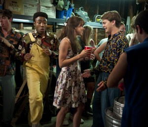 "(l-r) Donald Glover (as Adam), Aubrey Plaza (as Brandy), and Johnny Simmons (as Cameron) star in CBS Films' ""THE TO DO LIST."" ©CBS Films. CR: Bonnie Osborne."