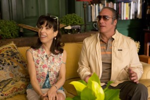 "Left to right: Sally Hawkins as Ginger and Andrew Dice Clay as Augie in ""Blue Jasmine."" ©Gravier Productions. CR: Jessica Miglio"