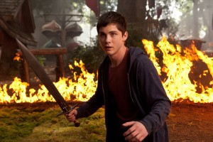 "Percy Jackson (Logan Lerman) engages in a fiery battle in ""Percy Jackson: Sea of Monsters."" ©20th Century Fox. CR: Murray Close."