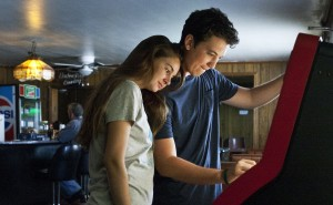 "Shailene Woodley  and Miles Teller in ""The Spectacular Show."" ©A24."