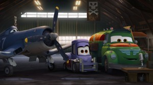 """PLANES"" (Pictured) SKIPPER, DOTTIE (voiced by Teri Hatcher), and CHUG in ""PLANES."" ©2013 Disney Enterprises, Inc."