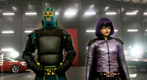 "Young masked hero Kick-Ass (AARON TAYLOR-JOHNSON) and the blade-wielding Hit Girl (CHLOË GRACE MORETZ) return for the follow-up to 2010's irreverent global hit: ""Kick-Ass 2."" ©Universal Studios. CR: Daniel Smith."