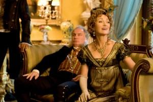 "(l-r) Rupert Vansittart as Mr. Wattlesbrook and Jane Seymour as Mrs. Wattlesbrook in ""Austenland."" ©Sony Pictures Classics. CR: Giles Keyte."
