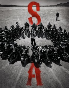 SONS OF ANARCHY -- Pictured: (Top, L-R) Theo Rossi as Juan Carlos 'Juice' Ortiz, Maggie Siff as Tara Knowles, Tommy Flanagan as Filip 'Chibs' Telford, Charlie Hunnam as Jackson 'Jax' Teller, Mark Boone Junior as Robert 'Bobby' Munson, Ryan Hurst as Harry' Opie' Winston, Katey Sagal as Gemma Teller Morrow, Kim Coates as Alex 'Tig' Trager, Ron Perlman as Clarence 'Clay' Morrow -- CR: Frank Ockenfels/FX