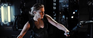"Nordic mercenary Dahl (KATEE SACKHOFF) tracks Riddick, a dangerous, escaped convict wanted by every bounty hunter in the known galaxy, in ""Riddick."" ©Universal Studios."