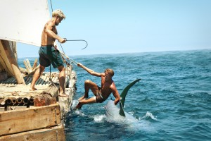"(L-R) Jakob Oftebro as Torstein and Tobias Santelmann as Knut in ""KON TIKI."" © 2013 THE WEINSTEIN COMPANY. CR: Carl Christian Raabe."
