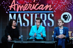 "AMERICAN MASTERS ""Billie Jean King"" (center) at TCA Press Tour. ©PBS."