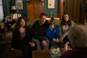 "The Lambert family, played by Barbara Hershey, Patrick Wilson, Ty Simpkins and Rose Byrne, return in James Wan's ""INSIDIOUS: CHAPTER 2."" ©FilmDistrict. CR: Matt Kennedy."