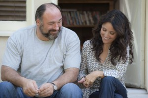"James Gandolfini as ""Albert"" and Julia Louis-Dreyfus as ""Eva"" in ""ENOUGH SAID."" ©Fox Searchlight. CR: Lacey Terrell."